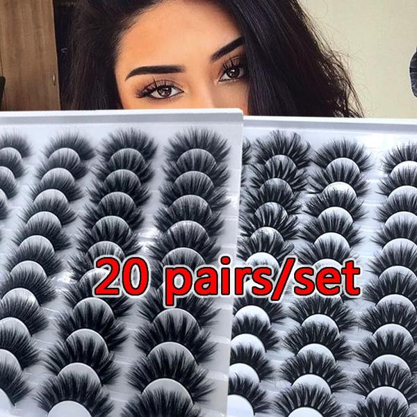 lashesextension, False Eyelashes, 20pairseyelashe, eye