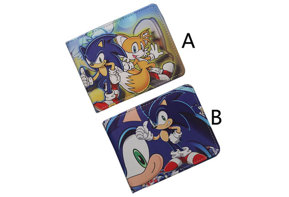 Hot Sale Game Sonic The Hedgehog Wallet Pu Cartoon Super Sonic Purse Men Women Short Leather Pu Teenager Wish