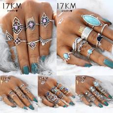 kuncklering, bohemia, Turquoise, crystal ring