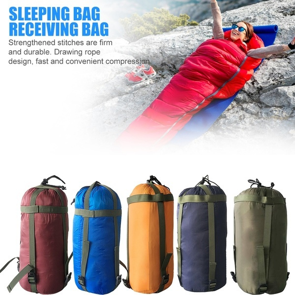 Portable Outdoor Hiking Camping Sleeping Compression Stuff Sack Travel Bag Large