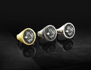 viking, golden, animalring, Jewelry