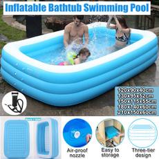 Children, bathingtub, outdoorswimmingpool, inflatableswimmingpool