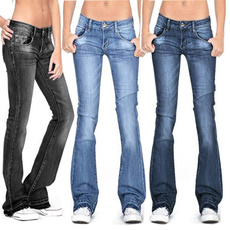 womens jeans, Fashion, high waist, Casual pants
