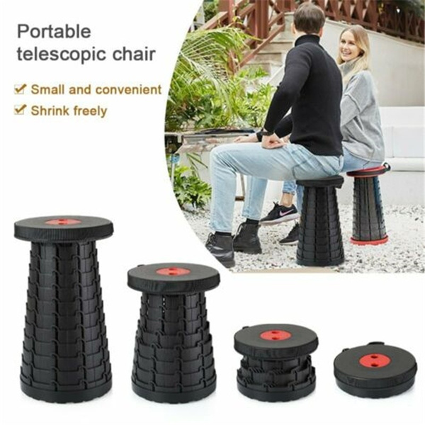 Folding Retractable Portable Hiking Stool Seat Outdoor Camping Fishing Chair
