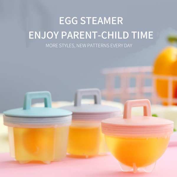 Creative Cute Egg Boiler Plastic Egg Poacher Set Kitchen Egg ...