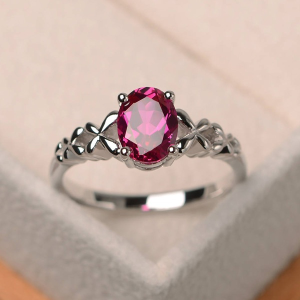 Whole New Fashion 925 Sterling Silver Ruby Aquamarine Wedding Engagement Ring Women S Simple Emerald Ring Wish