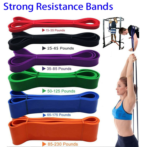 Heavy Duty Resistance Bands Latex Loop Exercise Sport Fitness Tube Home Yoga Gym