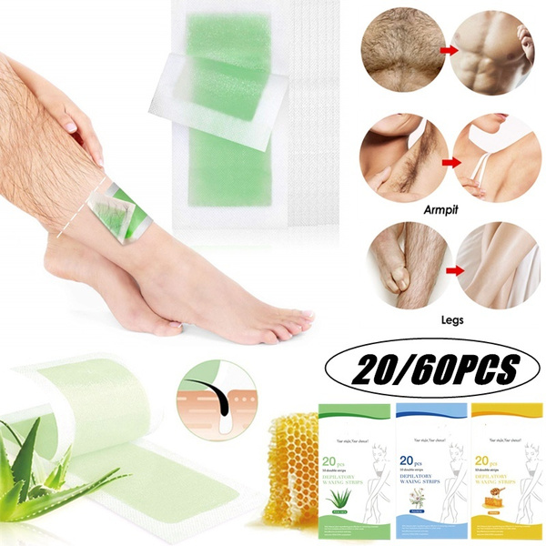 20 60 Pcs Wax Strips Hair Removal Wax Strips For Arms Legs