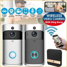 doorbell, gadget, doorbellwirele, recordingdoorbell