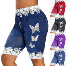 butterflyprint, runningyogashort, Fitness, Lace