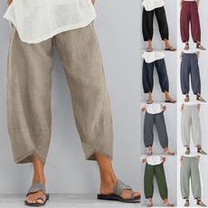 summertrouser, Women Pants, elastic waist, Waist