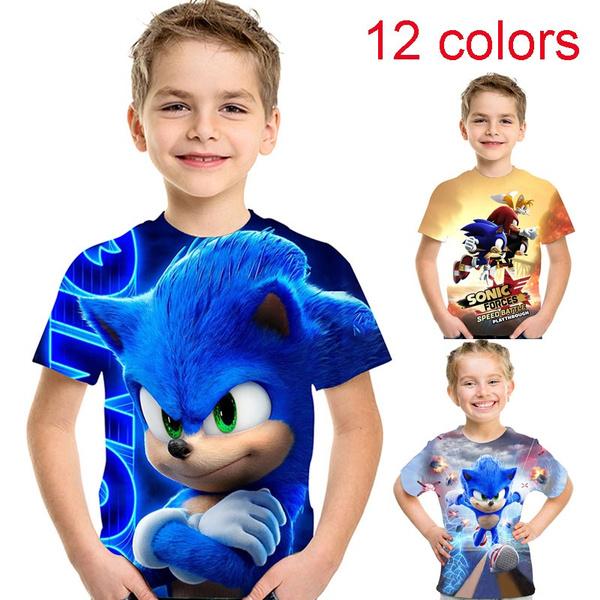 Newest Sonic The Hedgehog Kid Fashion 3d Printed T Shirt Summer Kids Short Sleeve 90 160cm Wish