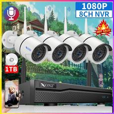 securitycamerasystem, Outdoor, securitycamerasystemwirele, 1080pnvrwith1tbharddrive
