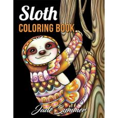 Funny, coloringbookofsloth, coloringbookforgrownup, coloringbookwithsloth