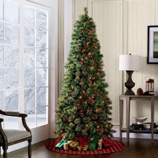 plaid, plaidtreeskirt, Tree, christmasdaydecoration