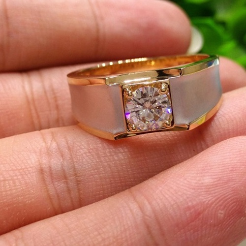 Simple Busniess Men Natural Gemstone Diamond Ring 18k Gold Engagement Wedding White Sapphire Rings Mens Fashion Jewelry Accessories Gifts Size 6 13 Wish