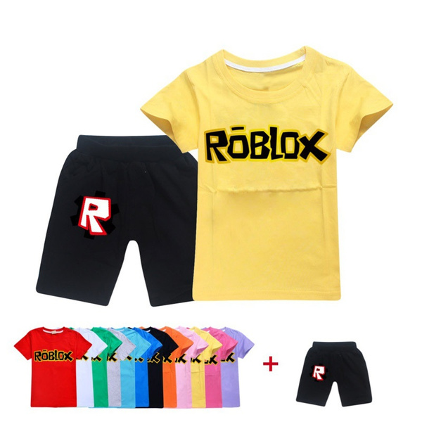 Boys And Girls Children Hot Sell Summer 2 Pcs Round Collar T Shirt