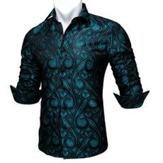 men's dress shirt, Fashion, Shirt, tealblue