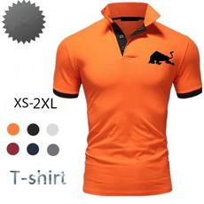 Summer, Men, Polo Shirts, Tops