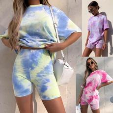 2pieceset, casualshortsleeve, Shorts, Shirt