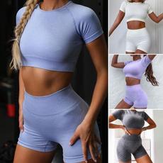 croptopandshortsset, Fashion, high waist shorts, Fitness