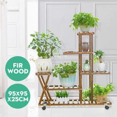 horticulture, flowerrack, plantstand, woodenflowerpotstandshelf