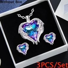 Heart, Jewelry, Angel, necklace for women