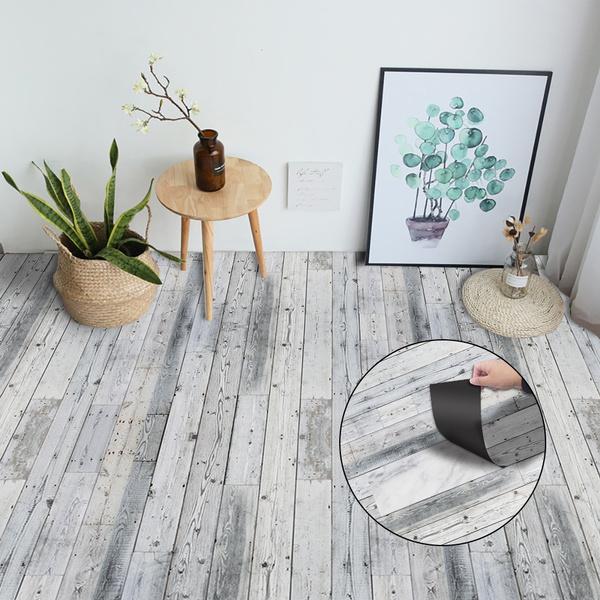 Faux Wooden Decal Wall Art Waist Line