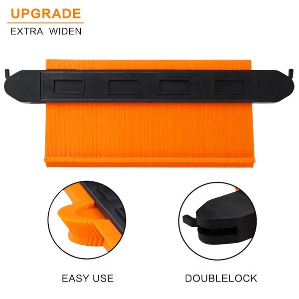 Upgraded Contour Gauge Lock Profile 10In Plastic Woodworking Shape Duplicator