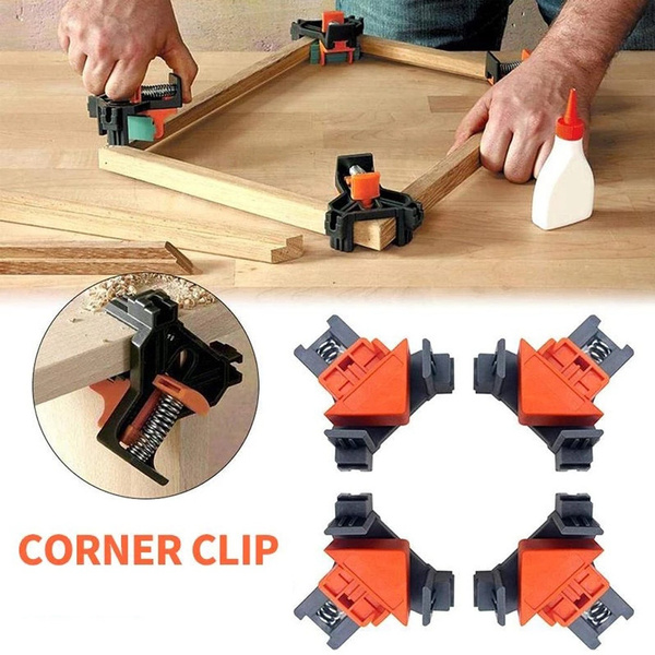 4pc Corner Clamp Woodworking Locator 5 22mm Corner Clip Positioning Fixture Tool Auto Adjustable Angle Clamp Home Tool Mounting Aid Wish
