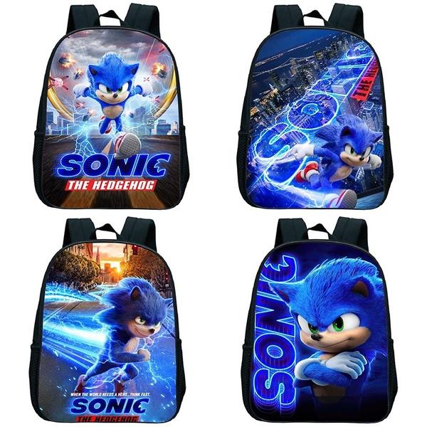 New Pattern Children Sonic Kindergarten Backpack Cool Printed Kids Primary School Bags Bookbags Rucksack Child Start School Gift Wish