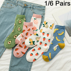 Kawaii, Cotton Socks, Colorful, fruitsock