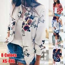 casual coat, ladiescoat, floraljacket, Fashion