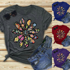 daisyprint, Plus Size, hippie, Shirt