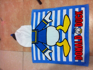 Swim, lengthened, hooded, Towels