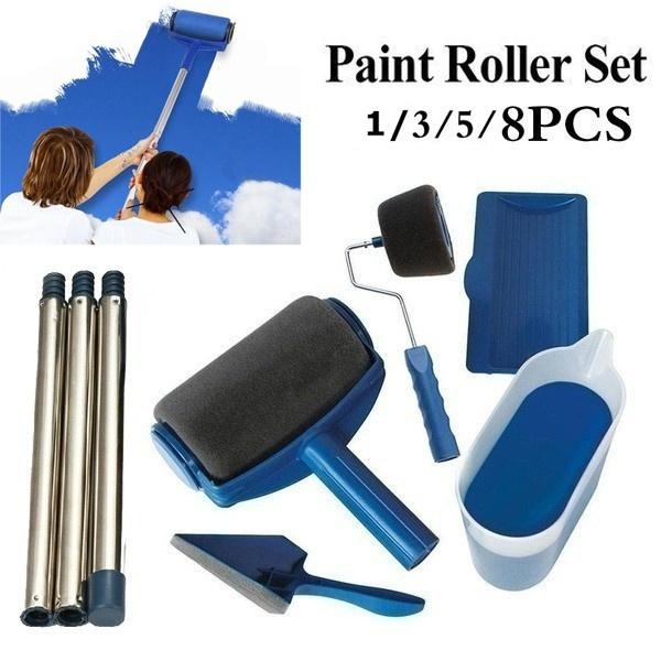 Painting Roller Set Brush Kit Multifunctional House Paint  Runner Pro Tools Set