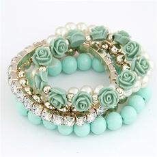 Charm Bracelet, Bracelet, Flowers, Rose