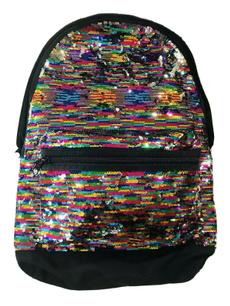 pink, rainbow, Bling, School Backpack