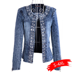 womancoat, denim jacket, Rhinestone, chaquetasmujer2020
