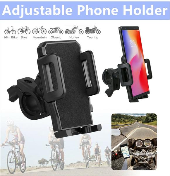 Cell Phone Holder Handlebar Mount Motorcycle Bike Bicycle Universal Adjustable