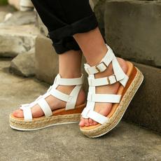 beach shoes, Plus Size, Platform Shoes, sandaliasmujer