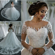 gowns, Lace, Sleeve, Elegant