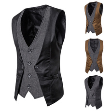 sleeveless, slim, Waist Coat, Men's vest
