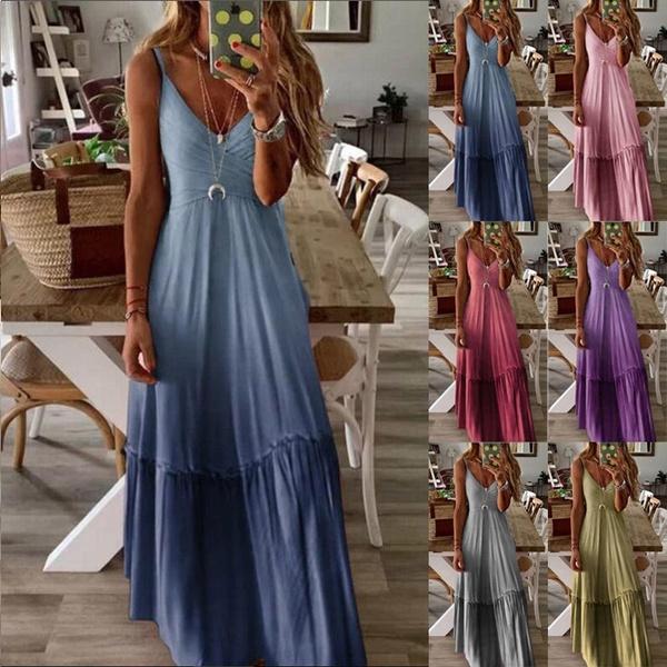 Summer, Plus Size, sexy dresses, long dress