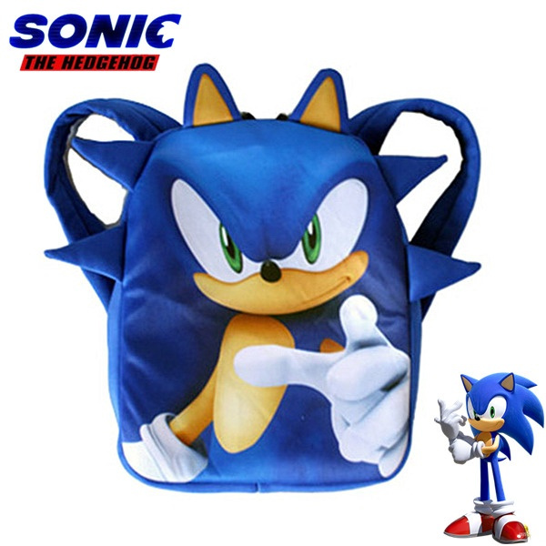 Sonic The Hedgehog Cartoon Backpack Cute Children S School Bags Gift For Students Wish
