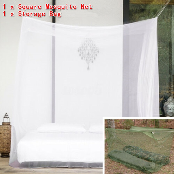 Large White Camping Indoor Outdoor Netting Storage Bags Insect Tents Mosquito