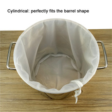 2 pcs Brew in a Bag Nylon Straining Bags Brew Bags Reusable Beer Homebrew Filter