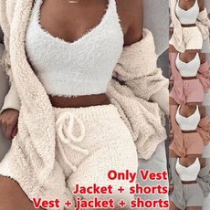 Vest, Shorts, Ladies Fashion, Sleeve