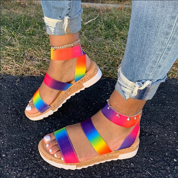 wide width platform sandals