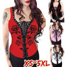 Women Vest, Vest, roseprint, Tank